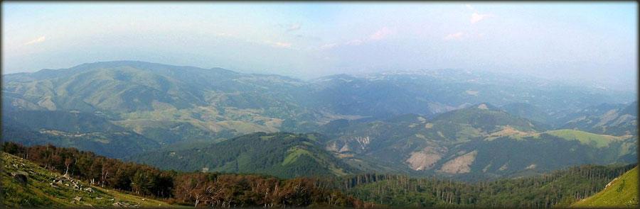 Pogled sa vrha Željina ka Goču