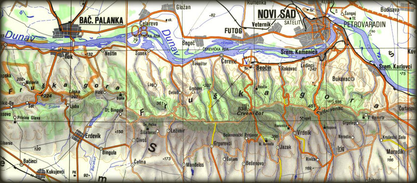 fruska gora mapa Freebiking Atlas   Fruška Gora fruska gora mapa