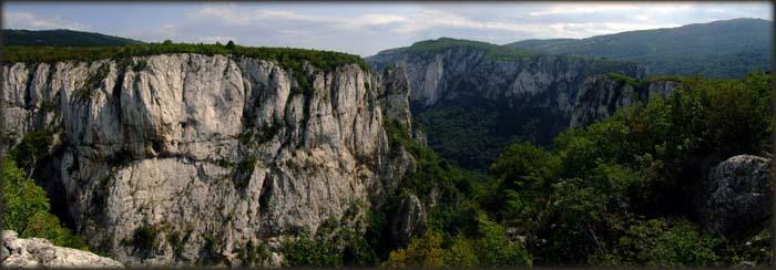 Pogled na Lazarev kanjon sa jednog malo poznatog i teško pristupačnog vidikovca