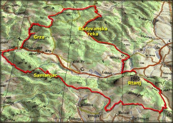 rtanj mapa Freebiking Atlas   Kučaj, Beljanica, Malinik, Samanjac i Rtanj rtanj mapa