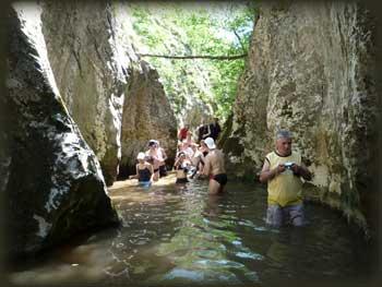 У првом теснацу кањона Брњице