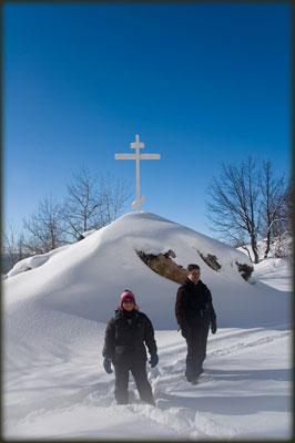 Natalija i Rajko kod Mikuljskog krsta