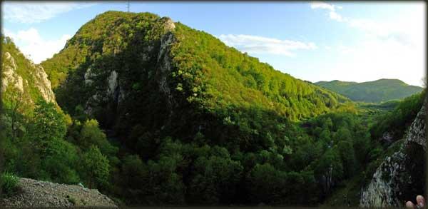 Panorama kanjona Peka