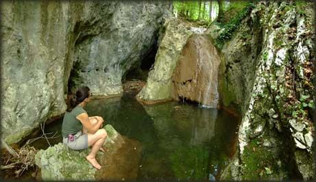 Na Ravnorečkom potoku, neposredno pred ulivanje u Resavicu - prvi predah u divljini