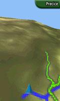 Na 3D mapi se za senčenje reljefa koriste DEM podaci (ukoliko postoje u vašoj mapi)