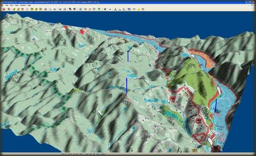 OziExplorer 3D daje potpuno novu dimenziju prikazu vaših mapa
