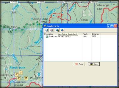 OziExplorer i Google Earth u sadejstvu