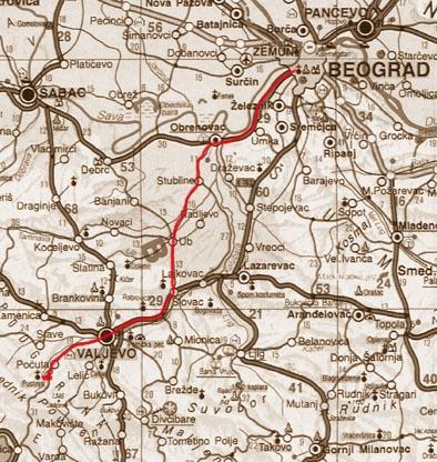 beograd tara mapa Bgd Valjevo Bajina Bašta Tara (mape,profili) beograd tara mapa