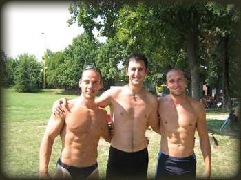 "Spasioci na jezeru ""Očaga"" Nikola levo i Marko desno"