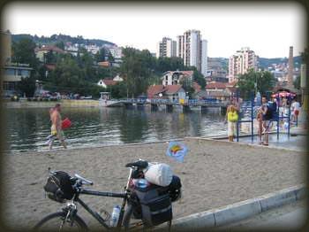 Plaža reke Đetinje u Užicu