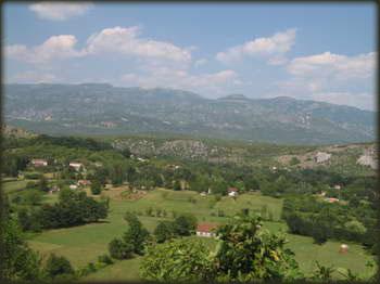 Planina Prekornica, pogled sa magistrale Podgorica – Nikšić