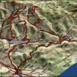 Detaljna karta kretanja po Staroj planini