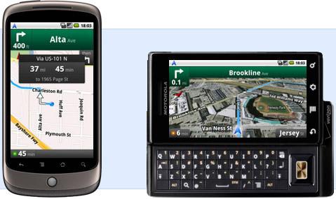 Google Maps navigacija